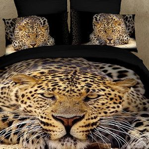 Leopard Face 6 Piece Duvet Cover Set