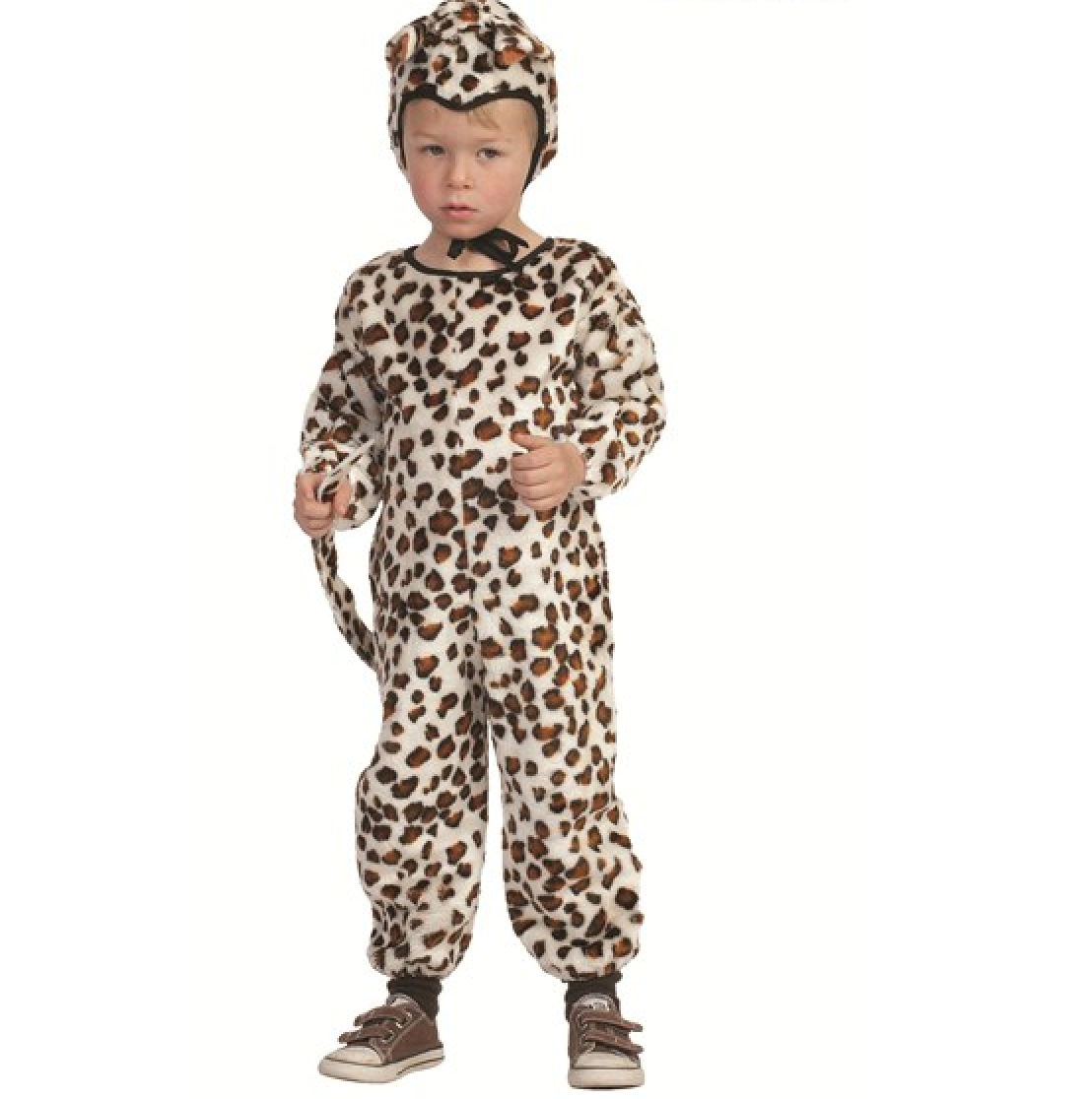Plush Leopard Jumpsuit Child Halloween Costume