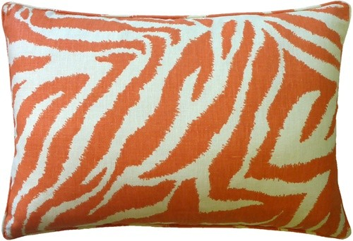 Funky Zebra Pillow Persimmon