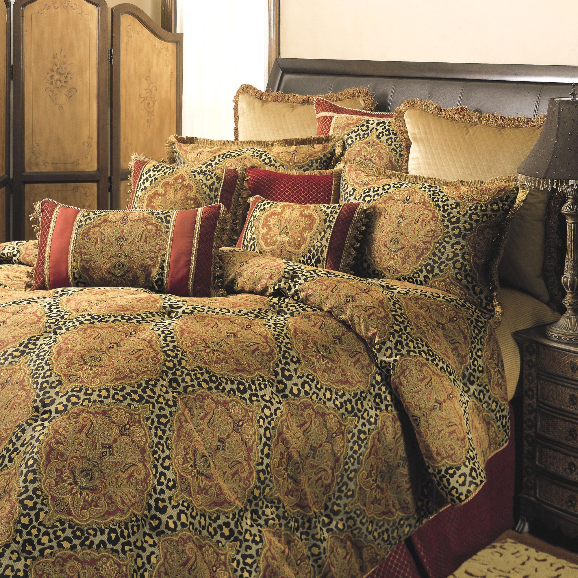 Sherry Kline Leopard Damask 3 Piece Comforter Set