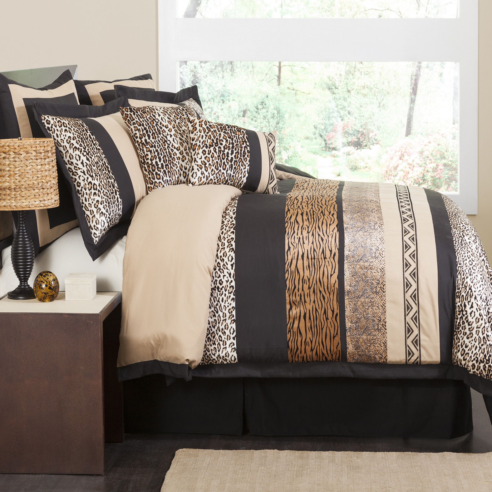 Lush Decor Tribal Animal Print Mix 8 Piece Comforter Set