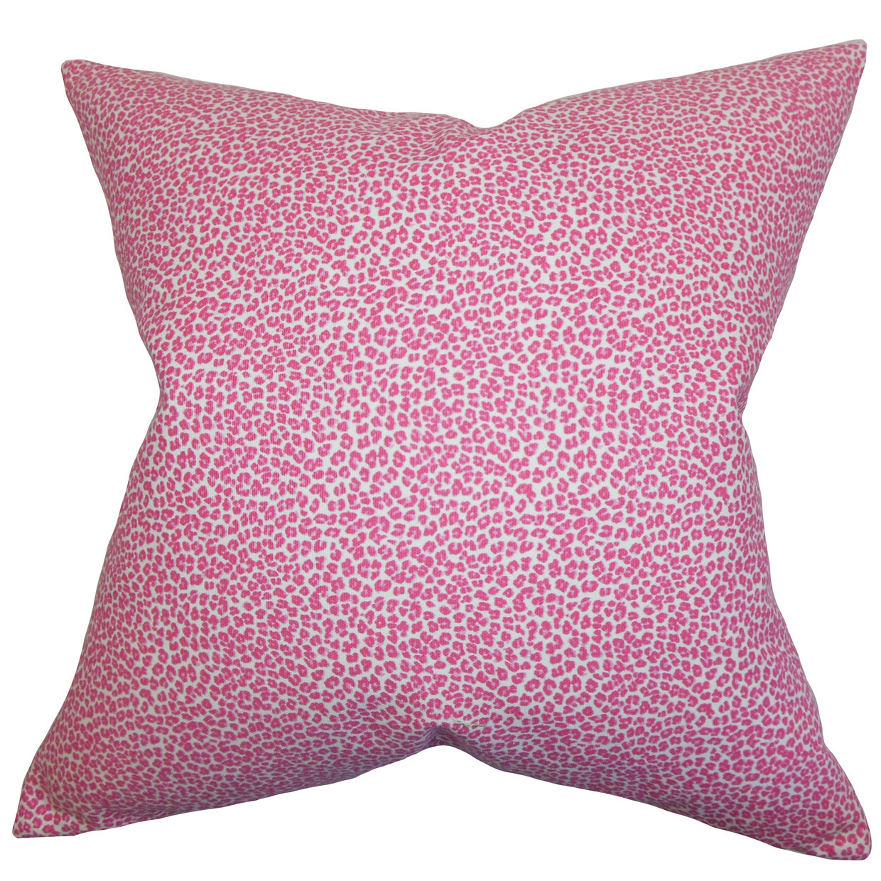 The Pillow Collection Pink Cheetah Animal Print Pillow
