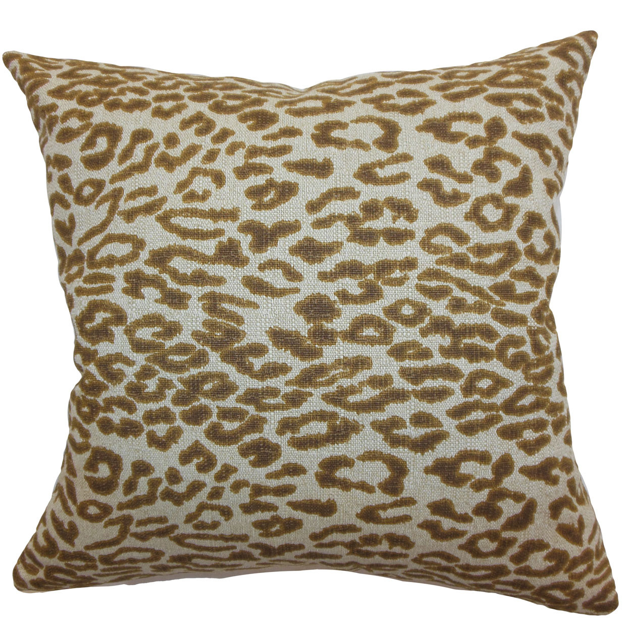 The Pillow Collection Egeria Leopard Print Cotton Pillow