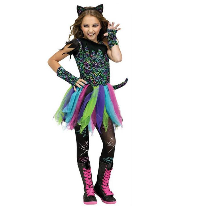 Wild Rainbow Cheetah Print Kids Costume