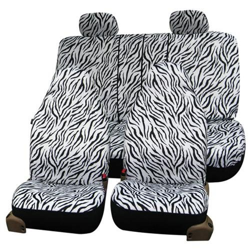 Zebra Animal Prints Car Seat Covers, Airbag ready and Split Bench