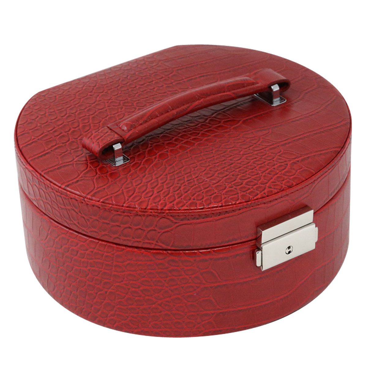 Bey-Berk Croco Jewelry Box