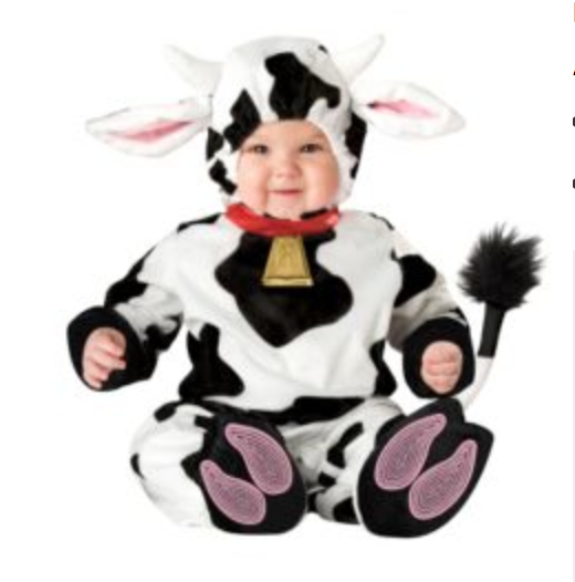 Mini Moo Cow Infant Toddler Costume