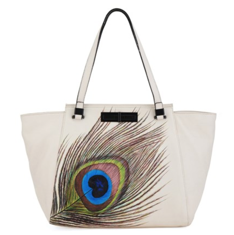 Elliott Lucca Peacock Leather Tote