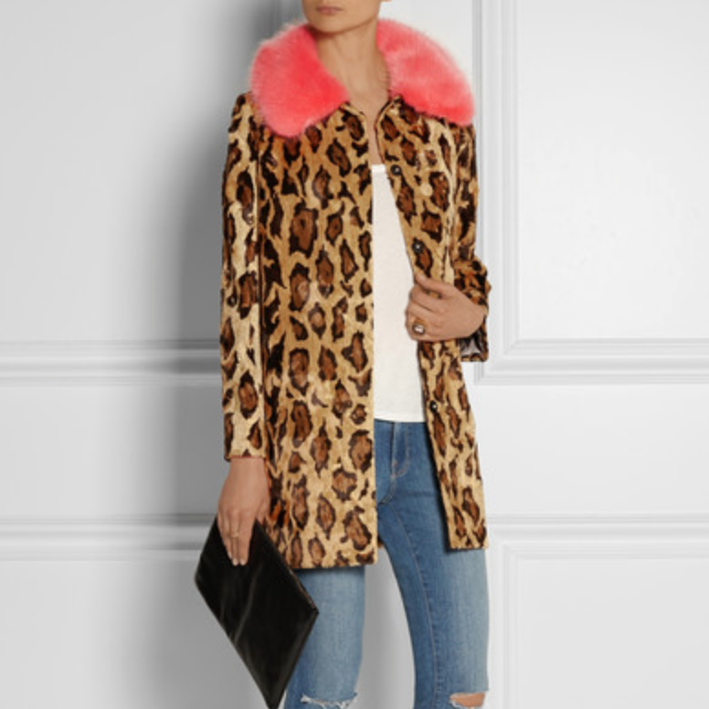 Shrimps Papa Puss Leopard Faux Fur Coat
