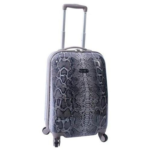 Jessica Simpson Luggage Snake Animal Print 20″ Twister Hardside Luggage