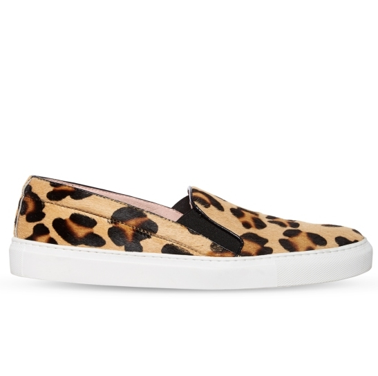 ELLA B Leopard Pony Skin Loafer Shoes