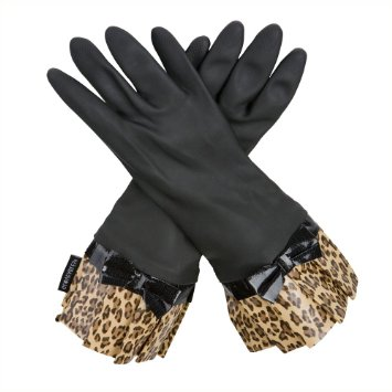 Gloveables Black Leopard Work Gloves