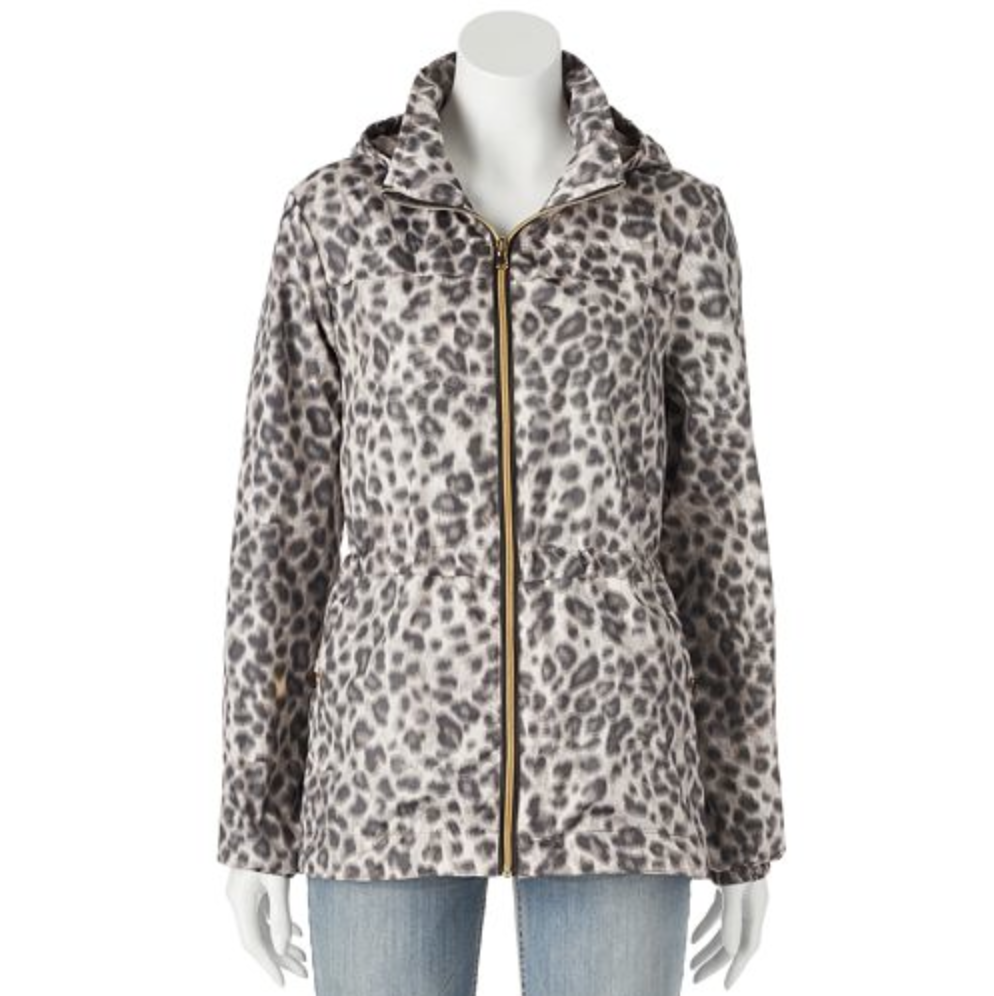 Hooded Leopard Anorak Rain Jacket – Women's
