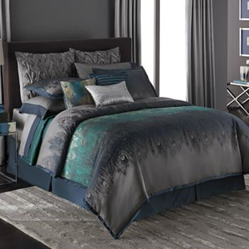 Jennifer Lopez bedding collection Exotic Peacock Comforter Queen