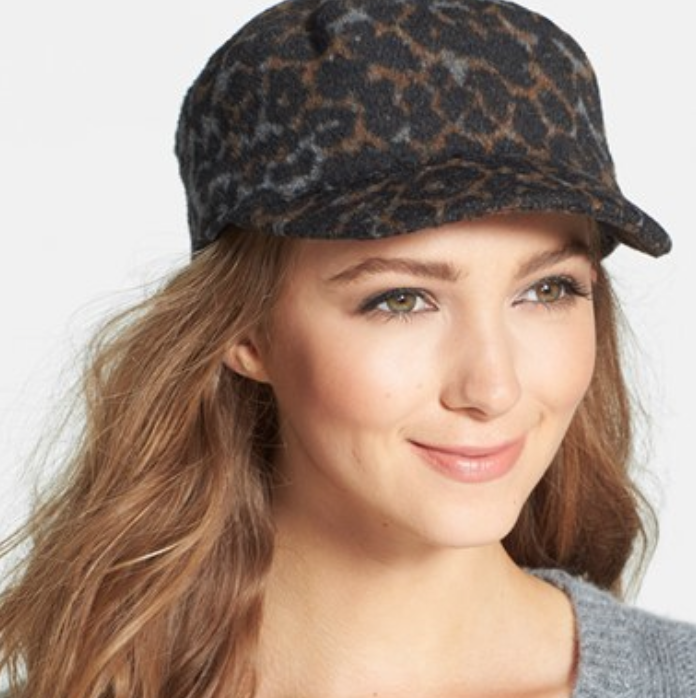 Leopard Animal Print Military Cap