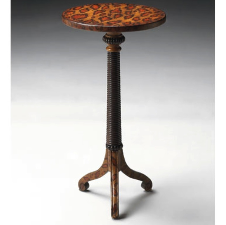 Leopard Pedestal Drink Table