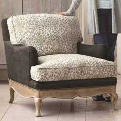 Leopard Print Eco French Upholstered Chair