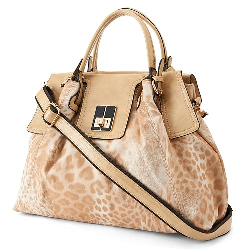 Mellow World Savannah Leopard & Tiger Satchel