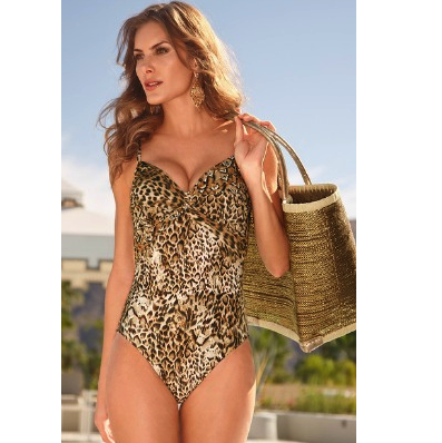 Golden Leopard One-Piece Swimsuit