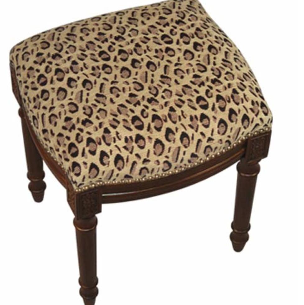 Leopard Print Furniture : leopard20print20upholstered20stool from www.animalprintessentials.com size 978 x 980 png 949kB