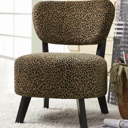 Leopard Print Slipper Chair