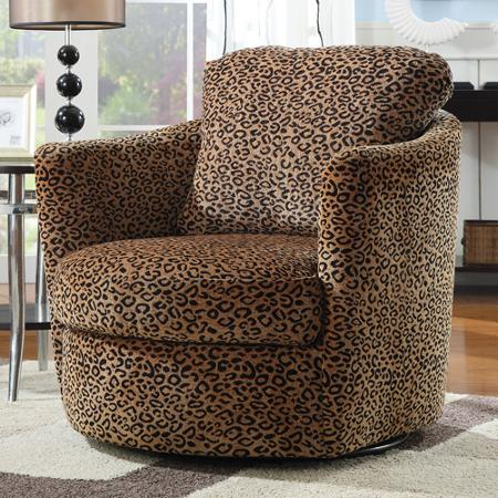 Leopard Swivel Chair