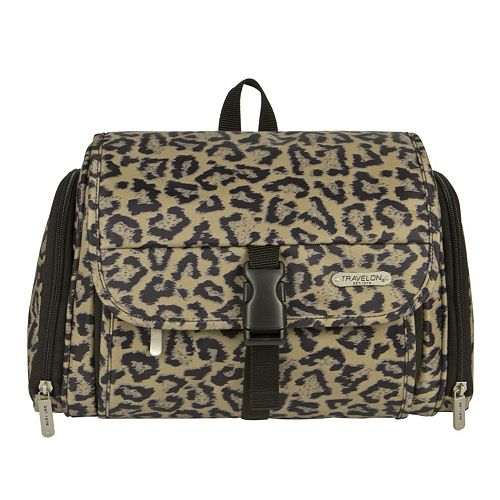 Travelon Leopard Hanging Toiletry Bag