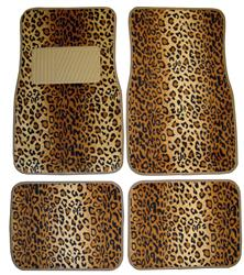 Leopard Pattern Brown Floor Mat