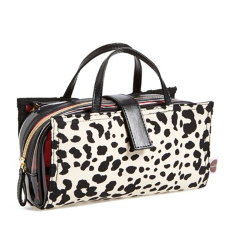 steph&co Leopard Nylon Brush Case