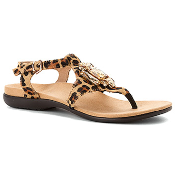 Women's Vionic with Orthaheel Technology Leopard Print Sandal