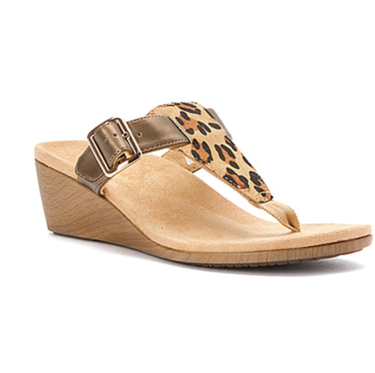 Women's Vionic with Orthaheel Technology Leopard Sandal