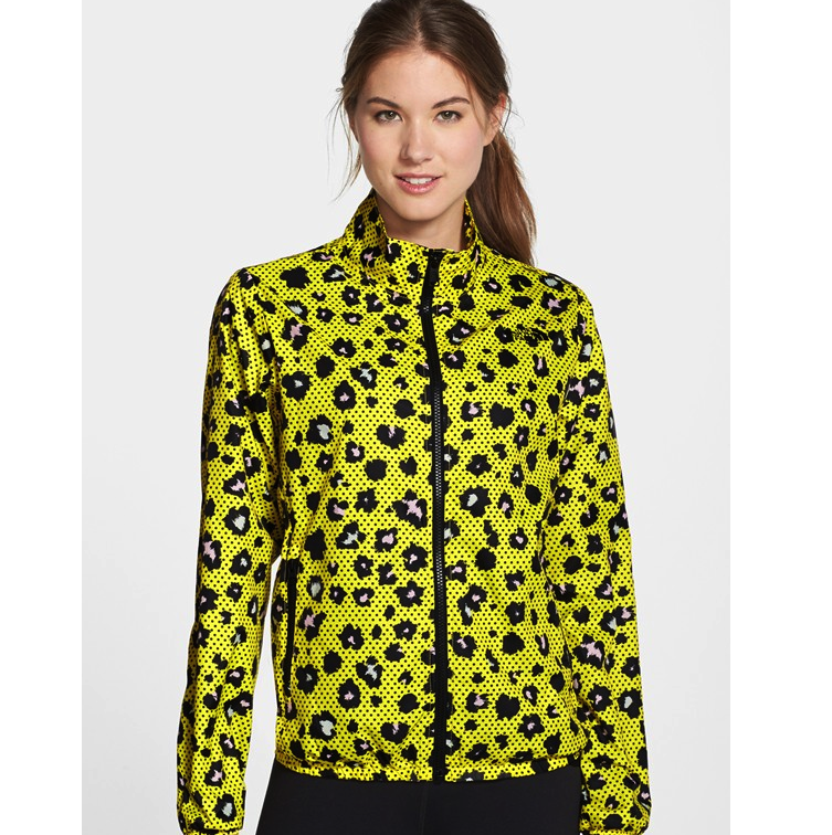 The North Face Leopard Chartreuse Packable Jacket