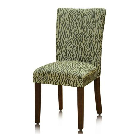 Pair Zebra Animal Print Parson Chairs (Set of 2)