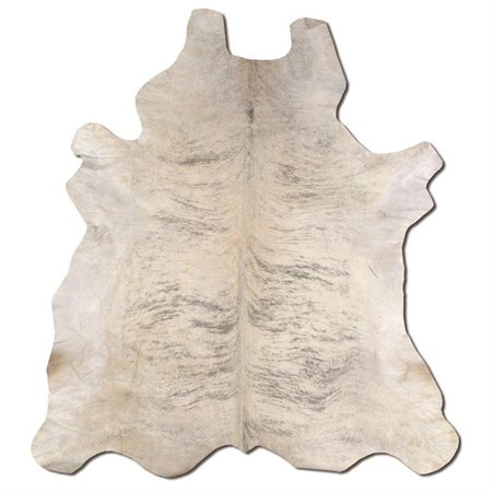 Animal Cowhide Area Rug Full Skin in Light Brindle