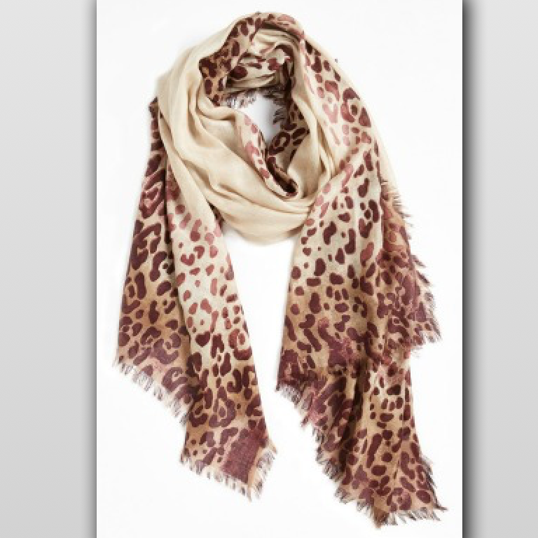 Burberry Animal Print Silk Georgette Scarf