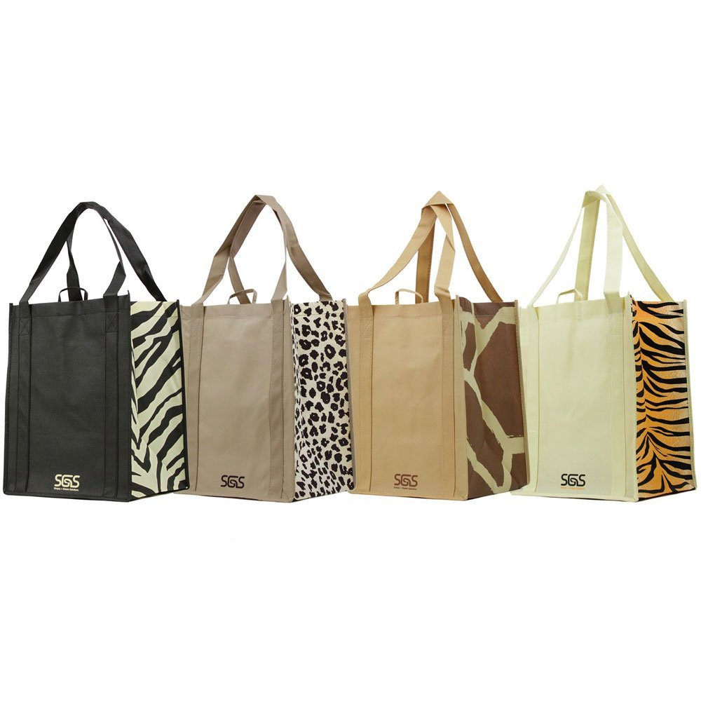 Animal Print – Set of 4 Reusable Reinforced Tote Bags