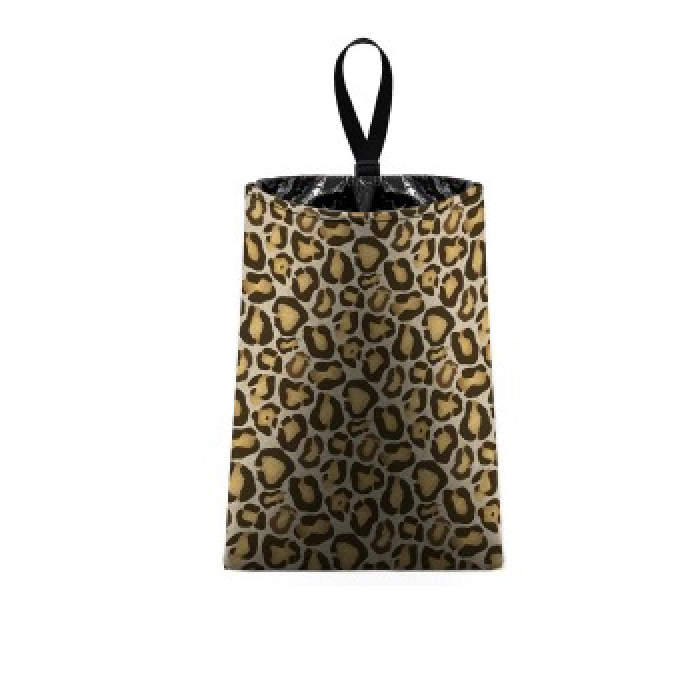 Auto Trash Bag Brown Leopard